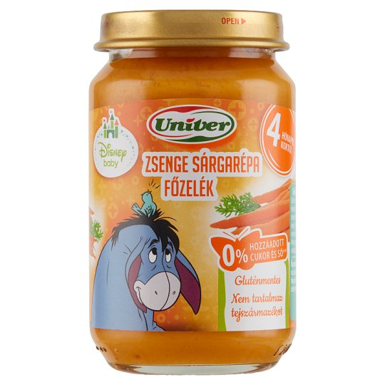 Univer Carrot Stew Vegetable Puree for The Baby 4+ Months 163 g