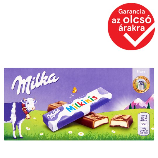 Milka Milkinis Alpine Milk Chocolate Filled with Milky Cream Filling 87,5 g