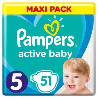 Pampers Active Baby, 5-as Méret, 51 db Pelenka, 11–16 kg