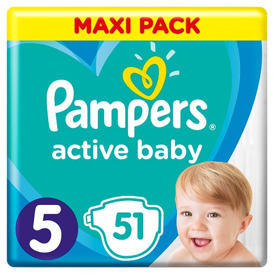 Pampers Active Baby, 5-as Méret, 51 db Pelenka, 11-16 kg