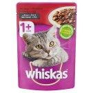 Whiskas 1+ teljes értékű nedves eledel felnőtt macskáknak marhával mártásban 100 g