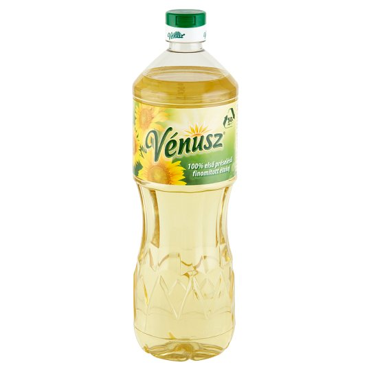 Vénusz First Pressed Refined Sunflower Cooking Oil 1 l