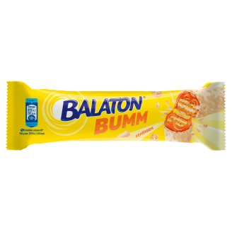 Balaton Bumm Filled Caramel Coated Filled Wafer Bar Dipped in White Mass with Wheat Flake 42 g