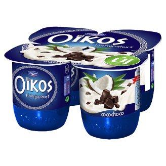 Danone Oikos Görög Chocolate-Coconut Flavoured Cream Yoghurt with Live Cultures 4 x 125 g