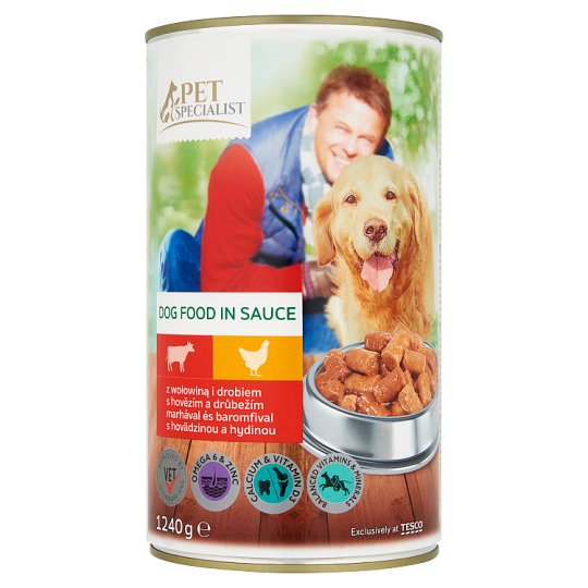 Tesco Pet Specialist Complete Dog Food in Sauce with Beef and Poultry 1240 g