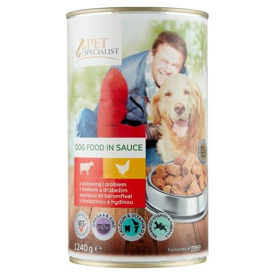 Tesco Pet Specialist teljes értékű állateledel felnőtt kutyák számára marhával és baromfival 1240 g