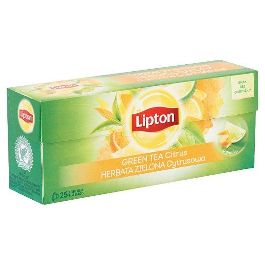 Lipton citrus ízesítésű zöld tea 25 filter