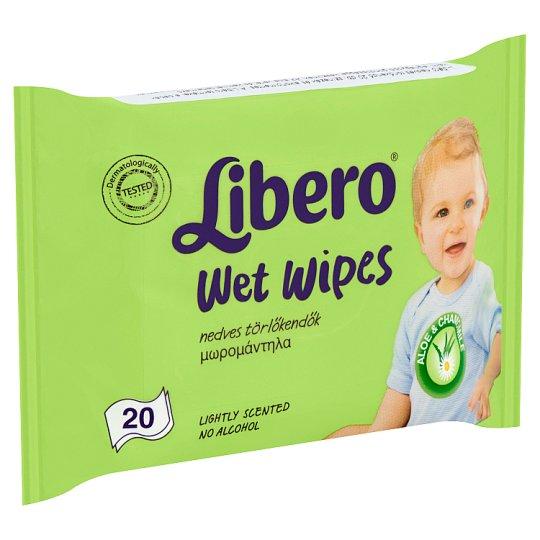 Libero nedves törlőkendő 20 db