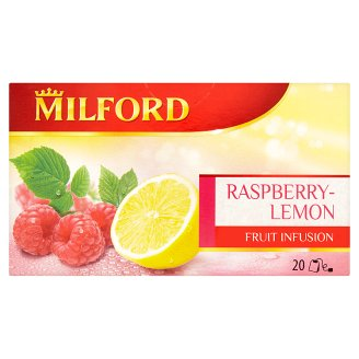 Milford Raspberry-Lemon Fruit Tea 20 Tea Bags 50 g