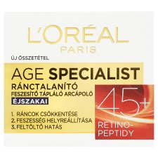 image 1 of L'Oréal Paris Age Specialist 45+ Anti-Wrinkle Firming Night Face Cream 50 ml
