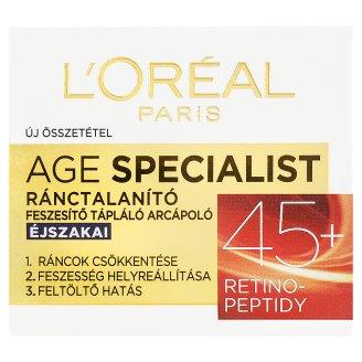 L'Oréal Paris Age Specialist 45+ ránctalanító feszesítő éjszakai arcápoló 50 ml