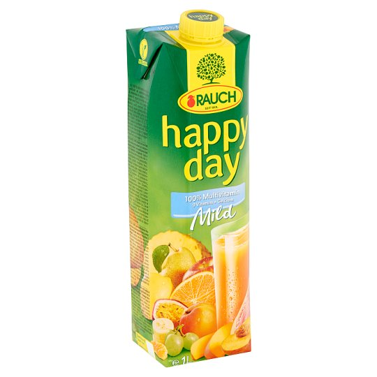 Rauch Happy Day Mild 100% Multivitamin Fruit Juice with 9 Vitamins and Calcium 1 l