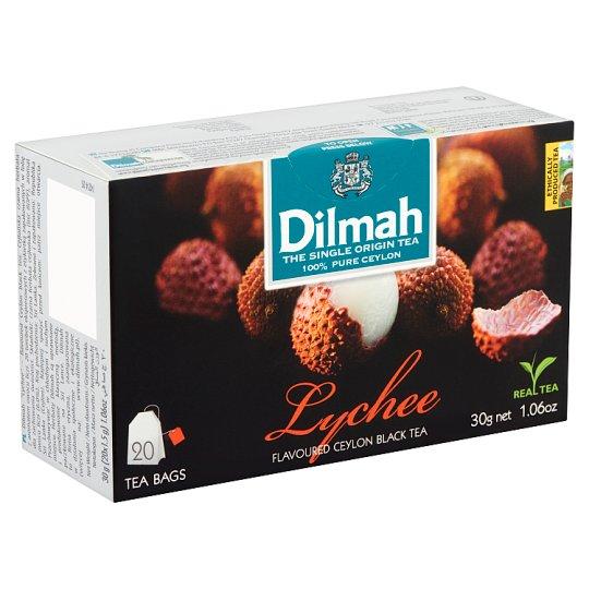 Dilmah filteres Ceylon fekete tea, lychee ízesítéssel 20 filter 30 g