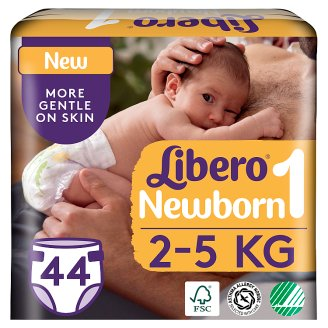 Libero Newborn 1 2-5 kg Premium Nappies 44 pcs