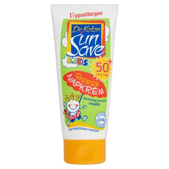 Dr. Kelen SunSave Kids vízálló gyerek napkrém SPF 50+ 100 ml