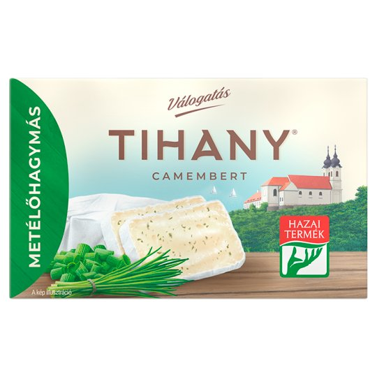 Tihany Válogatás Szendvics Camembert Fat Soft Cheese with Chives 120 g