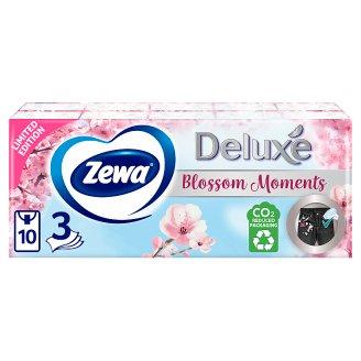 Zewa Deluxe illatmentes papír zsebkendő 3 rétegű 10 x 10 db