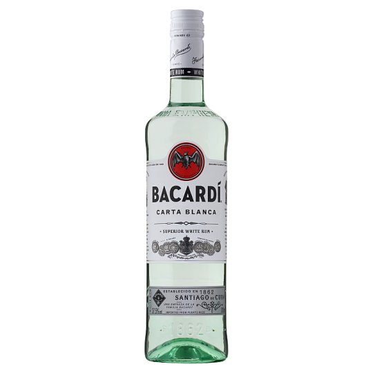 Bacardi Carta Blanca Rum 37,5% 0,7 l