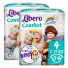 Libero Comfort 4 7-11 kg Nappies 2 x 54 pcs