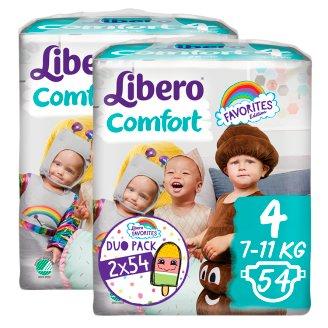 Libero Comfort 4 7-11 kg Nappies 2 x 54 pcs