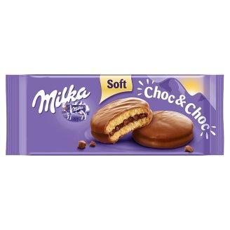 Milka Choc & Choc alpesi tejcsokoládéval mártott puha piskóta kakaós töltelékkel 150 g