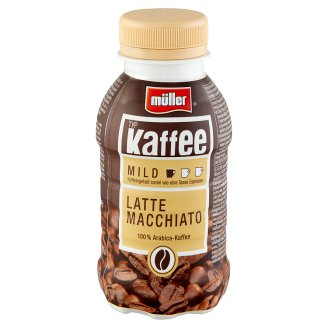 Müller Kaffee Latte Macchiato Pasteurized Milk Drink with Arabica Coffee 250 ml