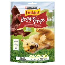 Friskies Beggin' Strips Complementary Pet Food For Adult Dogs with Bacon Flavour 120 g
