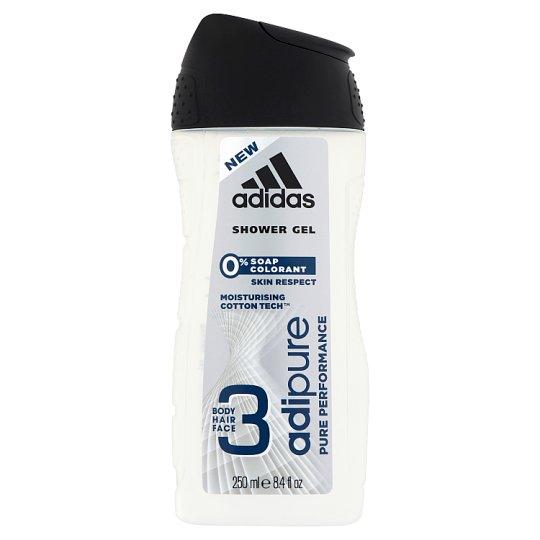 Adidas Adipure 3 az 1-ben tusfürdő testre, hajra, arcra 250 ml