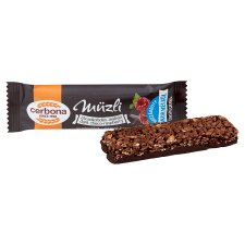 image 2 of Cerbona Dark Chocolate and Raspberry Cereal Bar with Sugar and Sweeteners in Cocoa Coating 20 g