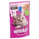 Whiskas 1+ teljes értékű nedves eledel felnőtt macskáknak lazaccal mártásban 100 g