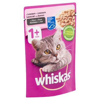 Whiskas Complete Pet Food for Adult Cats with Salmon in Sauce 100 g