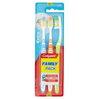 Colgate Extra Clean közepes sörtéjű fogkefe 3 db