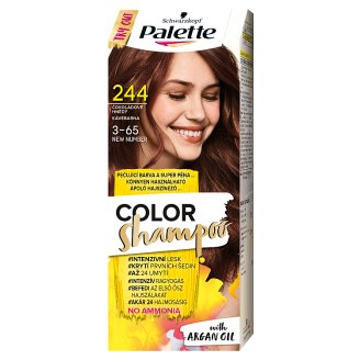 Schwarzkopf Palette Color Shampoo Hair Colorant 3-65 Coffee Brown (244)