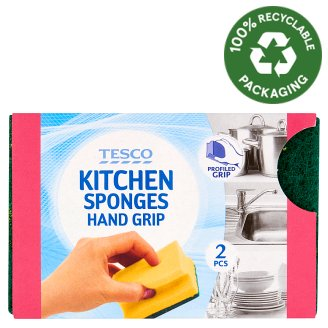 Tesco Hand Grip Kitchen Sponges 2 pcs
