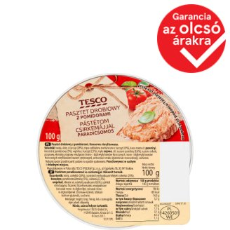 Tesco Pate with Chicken Liver and Tomato 100 g