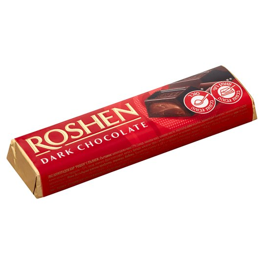 Roshen Dark Chocolate Filled with Chocolate Flavoured Fondant 43 g