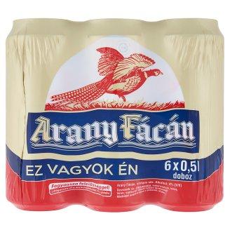 Arany Fácán világos sör 4% 6 x 0,5 l