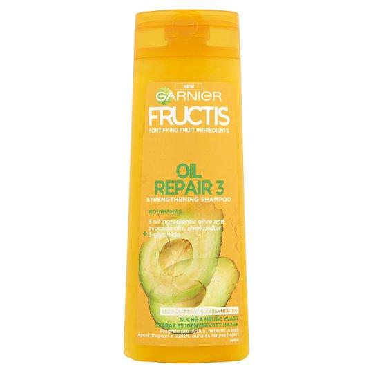Garnier Fructis Oil Repair 3 sampon száraz és igénybevett hajra 400 ml
