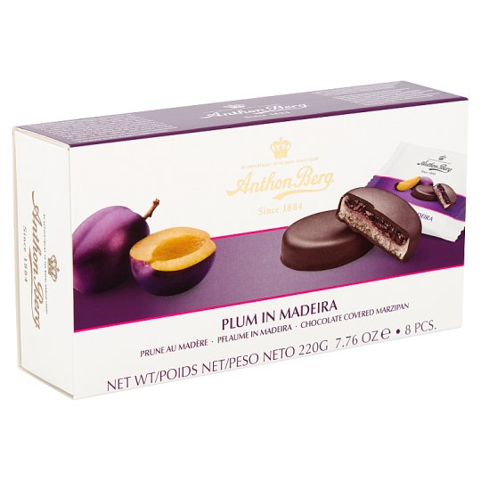 Anthon Berg Dark Chocolate with Marzipan and Filling with Plum in Madeira 8 pcs 220 g