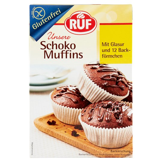 RUF Gluten-Free Muffin Powder with 12 Molds 350 g