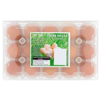 """""""A"""" osztályú friss tojás S 15 db"""