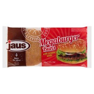 Jaus Megaburger Hamburger Buns with Sesame Seeds 4 pcs 330 g