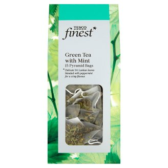 Tesco Finest Green Tea with Mint 15 Tea Bags 30 g