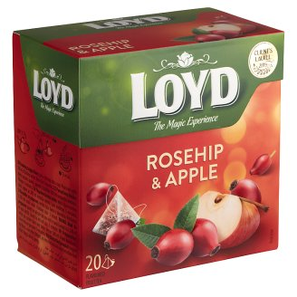 Loyd Flavoured Fruit Tea in Bags with Rosehip & Apple 20 Tea Bags 40 g