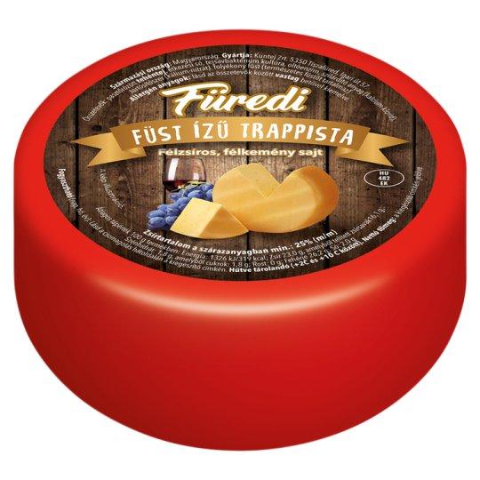 Kuntej Füredi félzsíros, félkemény, füstölt trappista sajt