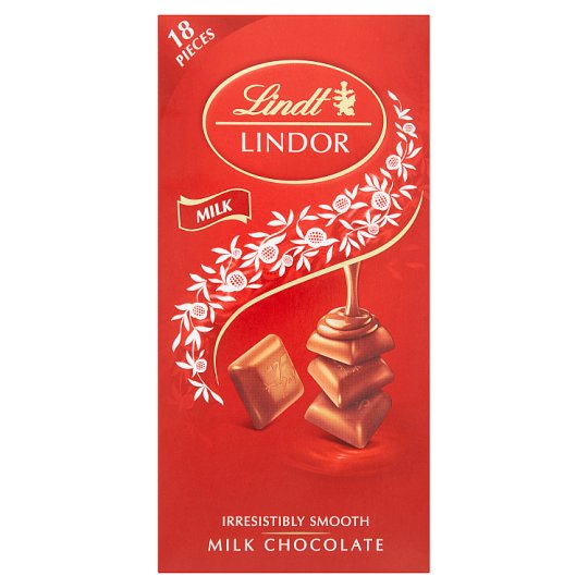 Lindt Lindor Swiss Milk Chocolate with A Smooth Melting Filling 100 g