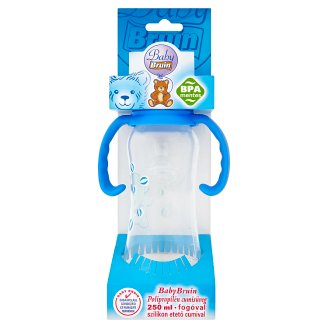 Baby Bruin 250 ml Bottle with Handles and Silicone Teat  0-6 Months