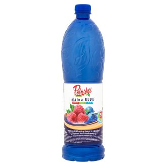 Pölöskei Málna Blue Blueberry and Raspberry Flavoured Syrup with Sugar and Sweetener 1 l
