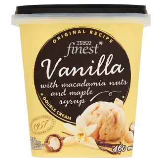 Tesco Finest Vanilla Ice Cream with Macadamia Nuts and Maple Syrup 460 ml