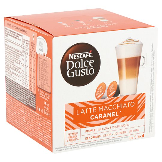 Nescafé Dolce Gusto Latte Macchiato Ground Coffee and Caramel Flavored Milk Powder 2 x 8 pcs 168,8 g